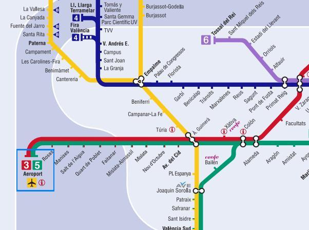 Metro Valencia horarios Aeropuerto Manises