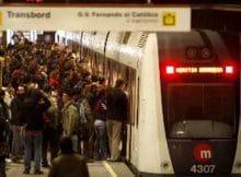 Paros de Diciembre en Metro Valencia