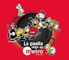 La paella viaja en Metro Valencia